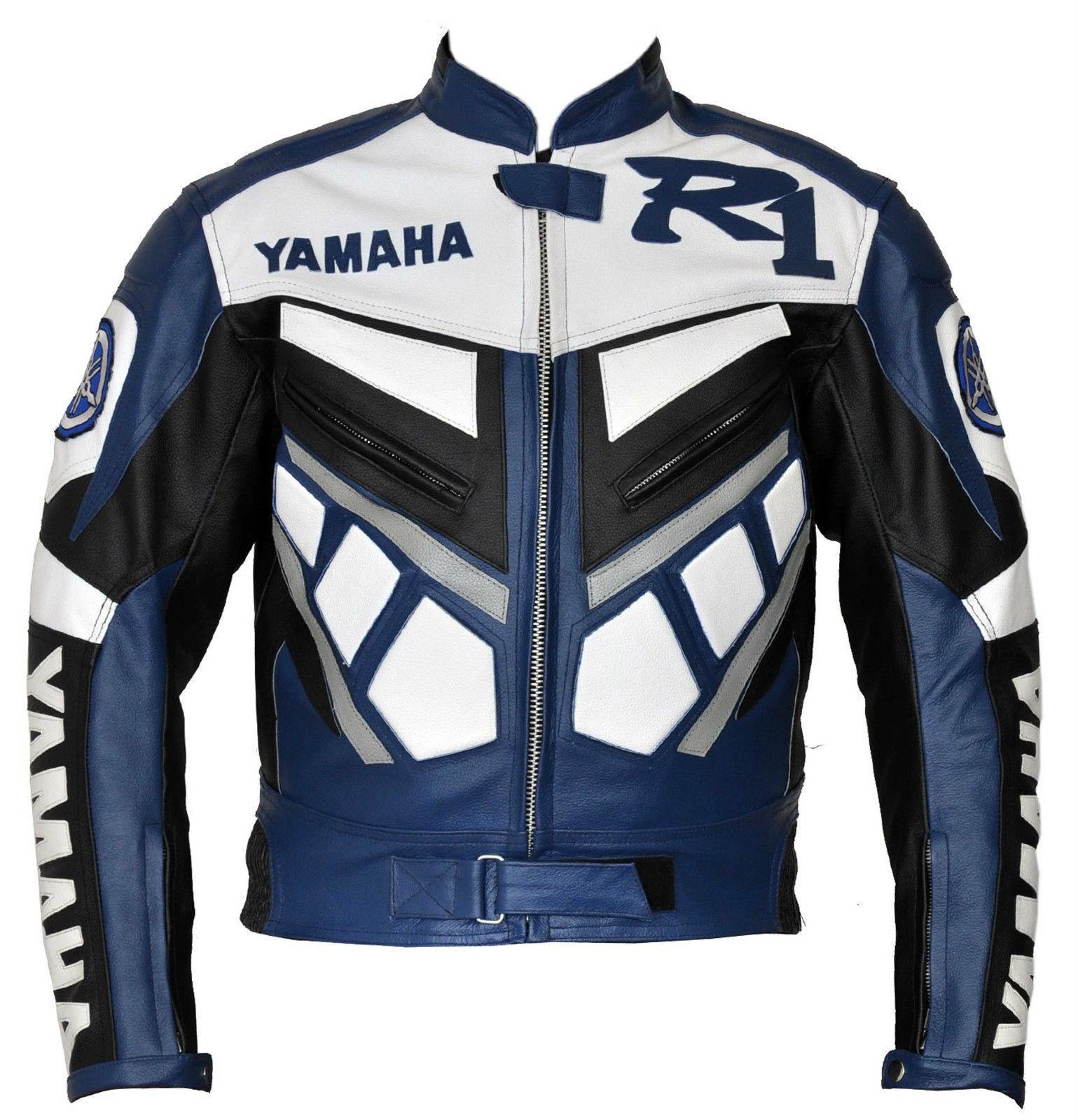 r1 yamaha blue white motorcycle jacket. Black Bedroom Furniture Sets. Home Design Ideas